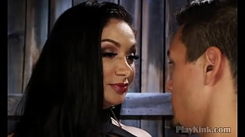 Sissy slave gets ass-fucked by his mistress