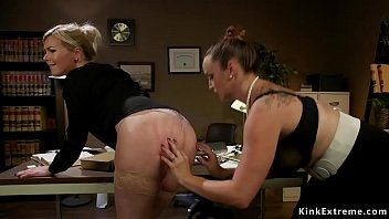 Watch Huge tits boss lawyer Bella Rossi_punishes her employee blonde Summer Day_and spanks her ass preview
