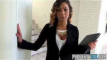 PropertySex - Beautiful agent seduces and fucks home owner for signature