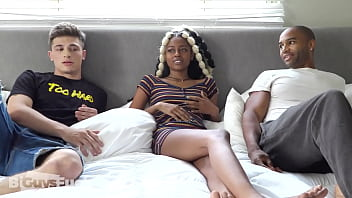 Black Couple share bi Big White Dick