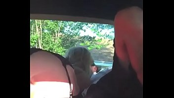 Watch Slut gf in short black dress and heels &stockings fucks dildi then bf in backseat at park preview