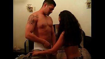 Sweet latina lady with nice tits rides hard dick