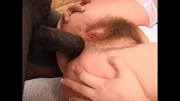 Horny black brick shithouse drills pretty white bimbo Adel in her hairy twat and big round ass