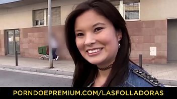 LAS FOLLADORAS - Natural Asian babe has casting sex