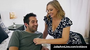 Beautiful Step Mom Julia Ann, slobbers on her Step Son's hard young dick & shoving it into her moist mature muff, until he dumps his cum on her face! Full Video & Julia Live @ JuliaAnnLive.com!