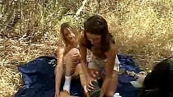 Chloe 18 and her Friend are Naughty Pussy Lickers Outdoors