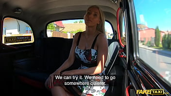 Fake Taxi tight pussy blonde babe fucked making her tits bounce