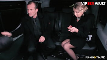 FUCKD IN TRAFFIC - (Lucy Heart & George Uhl) Uber Sex Story With A Big Tits Eastern Teenager