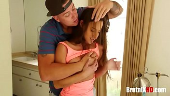 Petite Sister Gets Dominated By Brother