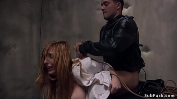 Mad patient Ramon Nomar used by big tits intern Lauren Phillips for boobs fuck but then he tied up her and fucked her ass