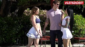 LETSDOEIT - Cheating Husband Chad Alva Tricked To Have Outdoor Sex With Katrina Jade & Kenzie Page