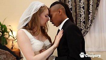 Lesbian Couple Fuck On Their Wedding Night