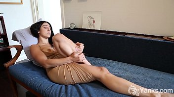Sexy Indian babe from Yanks Violet Russo toying her bushy snatch and cumming