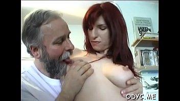 Slim dilettante rides old dick