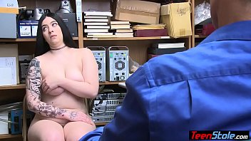 Big boobed chubby suspect got caught and fuxked by cop