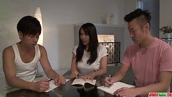 Hot japan girl Saki Sudou in group sex video