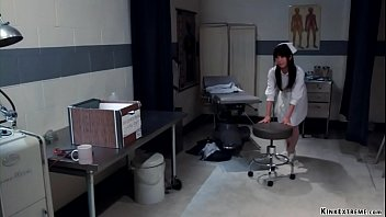Sexually v. predator Claire Adams puts brunette Asian nurse Marica Hase in rope bondage and then fingers and vibrates her wet pussy