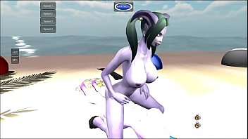 Futa Night Elf Female Draenei World of Warcraft