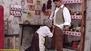 big boob 73 years old farmer granny gets deep hairy bush pussy fucked by her horny stepson