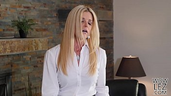India Summer and Pamela Morrison lick pussies in the office