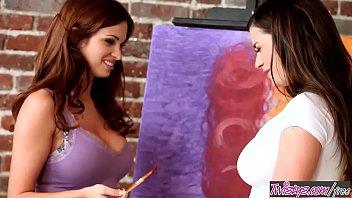 Twistys - (Taylor Vixen, Sabrina Maree) starring at Big Boobie Painting