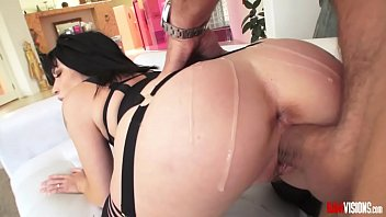 Rina Ellis gets hot pussy filled to the top
