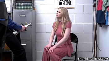 Hot blonde milf Sunny Lane punished and fucked hard by the security officer