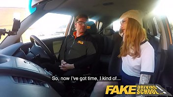 Watch Fake driving school sexy ginger hottie rides cock during internse lesson - Unique school madom preview