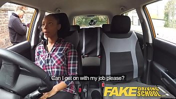 Watch Fake Driving School busty black girl fails test with lesbian examiner preview