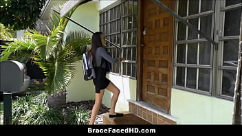 Cute Young Girl Wearing Braces Has Sex With Her Brothers Best Friend