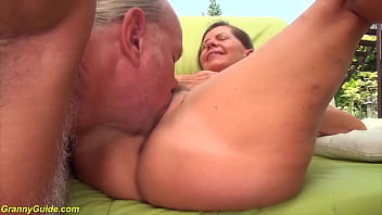 horny german pigtail granny gets rough doggystyle big dick fucked by her husband