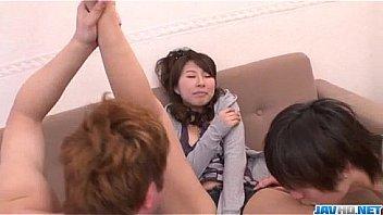 Mai Asahina gets cocks in each of her moist holes
