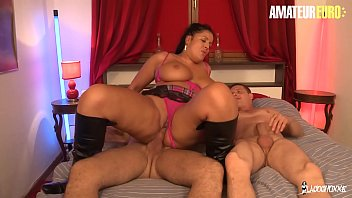 Watch AMATEUR EURO - Busty French MILF Tatyana Rides Two_Cocks And Takes_Deep Anal From Both preview
