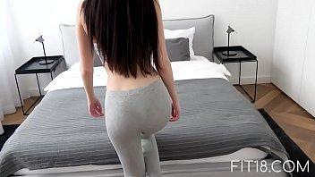 Fine brunette ass fucked hard