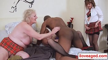 An orgy with mature horny ladies