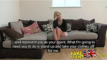 FakeAgentUK Beautiful petite blonde gives amazing blowjob in fake casting Thumbnail