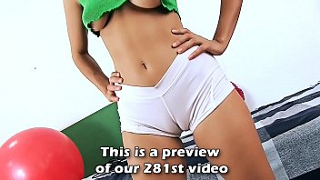 Big Ass Brunette Teen Yoga in Tight Shorts Exposing Huge Cameltoe