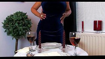 Hot Dinner Date Dressed in Stockings
