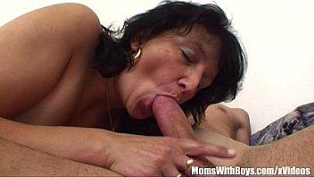 Stepson Restrained By Brunette Horny Stepmom