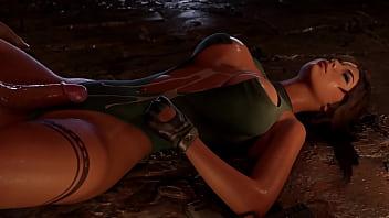 Lara gets pounded (clothed version)