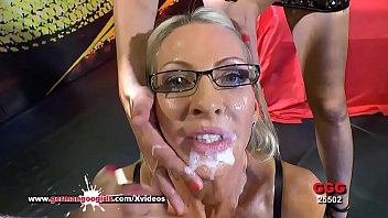 Gorgeous Mature babe Emma Starr is seriously hungry for Cum in her first appearance in the Bukkake Arena! German Goo Girls