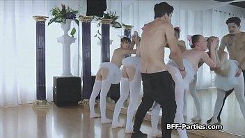 Ballerinas sharing trainers big cock