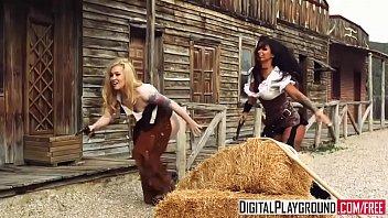 DigitalPlayground - Rawhide Scene 5 Jasmine Webb and Jessa Rhodes and Juan Lucho