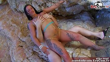 Spanish latina fuck ass at the beach