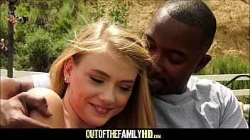 Young And Petite Blonde Stepdaughter Hannah Hays Loves Her Black Stepdad And His Huge Cock