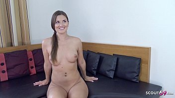 GERMAN SCOUT - 27yr Young Girl Seduce to Fuck for Cash at Fake Model Job by Stranger