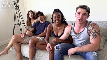Sexy Ebony Spinner Destiny Gets Split By Big Cock Teen Jeremy!