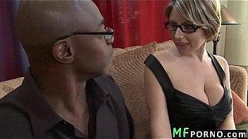 Teacher with glasses tries big black dick Velicity Von 2