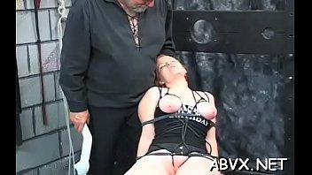Severe bondage with busty chicks Thumbnail