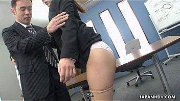 Hot Asian dick sucker pleases the dude's dicks